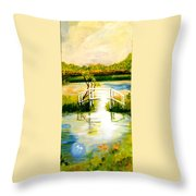 Sweetwater Spring Texas Throw Pillow