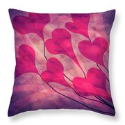 Swept Away In Your Love Romantic Textures Throw Pillow