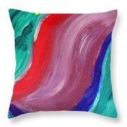 Swerve Throw Pillow