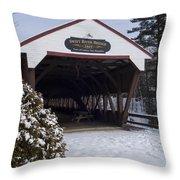 Swift River Bridge Conway New Hampshire Throw Pillow