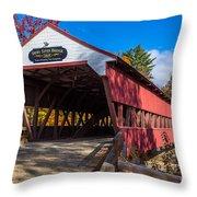 Swift River Bridge Throw Pillow