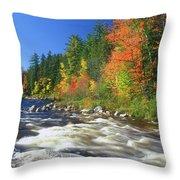 Swift River White Mountains Throw Pillow