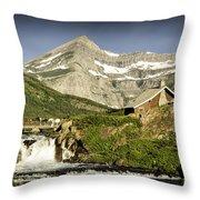 Swiftcurrent Falls Glacier Park 1 Throw Pillow