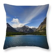 Swiftcurrent Lake - Glacier Np Throw Pillow