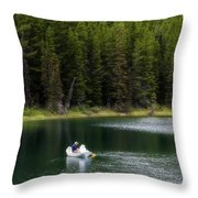Swiftcurrent Lake Many Glacier Montana Throw Pillow
