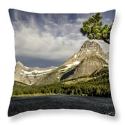 Swiftcurrent Lake Throw Pillow