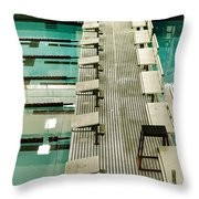 Swim Lanes Throw Pillow