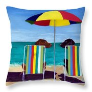 Swim Throw Pillow by Roger Wedegis