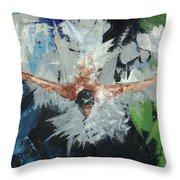 Swimmers Harmony Throw Pillow