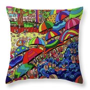 Swimming Day Throw Pillow