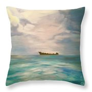 Swimming For The Unattainable Throw Pillow