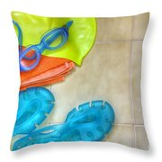 Swimming Gear Throw Pillow