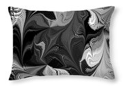 Swimming In Black And White - Abstract Throw Pillow