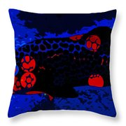 Swimming In Blue Coral Throw Pillow