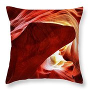 Swimming In Fire Throw Pillow