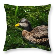 Swimming In The Grass Throw Pillow
