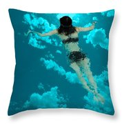 Swimming In The Sky Throw Pillow