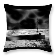 Swimming In The Storm. Throw Pillow