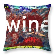 Swimming In Wine Throw Pillow