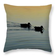 Swimming Into Ripples  Throw Pillow