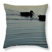 Swimming Into Ripples Two  Throw Pillow