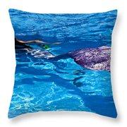 Swimming Mermaid Throw Pillow