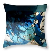 Swimming Pool Mural 2 Throw Pillow