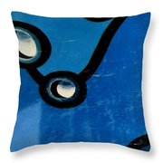 Swimming Pool Mural Detail 1 Throw Pillow