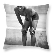 Swimming Star Duke Kahanamoku Throw Pillow