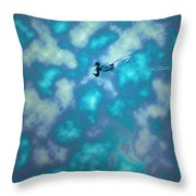 Swimming Through The Clouds Throw Pillow