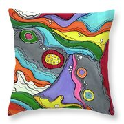 Swimming Upstream Throw Pillow