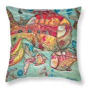 Swimming With The Stars Throw Pillow