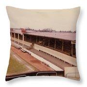 Swindon - County Ground - Main Stand 1 - 1970 Throw Pillow