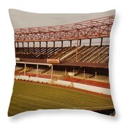 Swindon - County Ground - Main Stand 2 - 1970s Throw Pillow