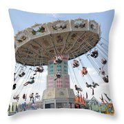 Swing Carousel At County Fair Throw Pillow