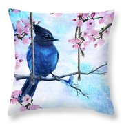 Swing Into Spring Throw Pillow