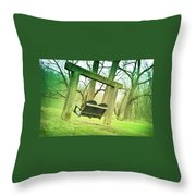 Swing On Throw Pillow