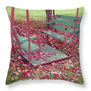 Swing Set Throw Pillow