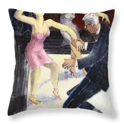 Swing Throw Pillow by Thomas Tribby
