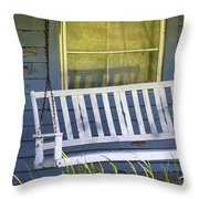 Swinging At The Cottage Throw Pillow