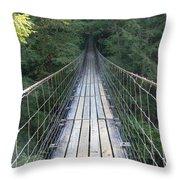 Swinging Bridge Throw Pillow