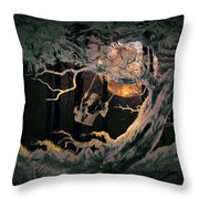 Swinging Through The Forest By Moonlight Throw Pillow