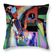 Swinging Trio Throw Pillow