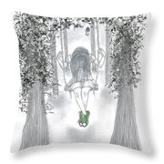 Swinging With Chucks Throw Pillow