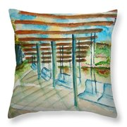 Swings At Smale Park Throw Pillow