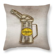 Swingspout Oil Canister Throw Pillow