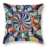 Swirl 12 Throw Pillow