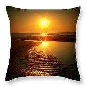 Swirl Me A Sunrise Throw Pillow