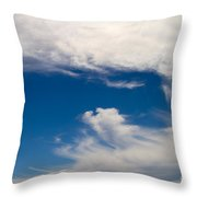 Swirl Of Clouds In A Blue Sky Throw Pillow