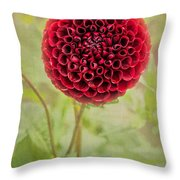 Swirl Of Red Throw Pillow